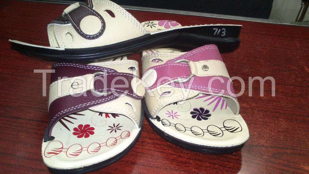 PU material outsole machine pasted slipper