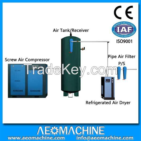 25hp 8 bar belt driven air cooling screw air compressor