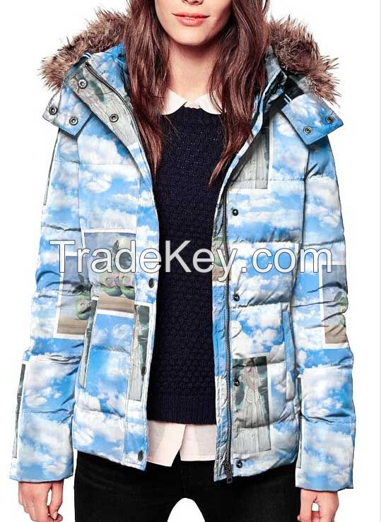 Woman Printing Down Ski Jacket