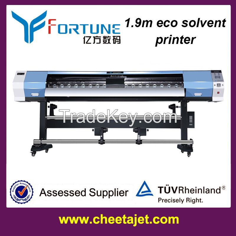 best price 1.9m eco solvent printer with dx5/dx7 head
