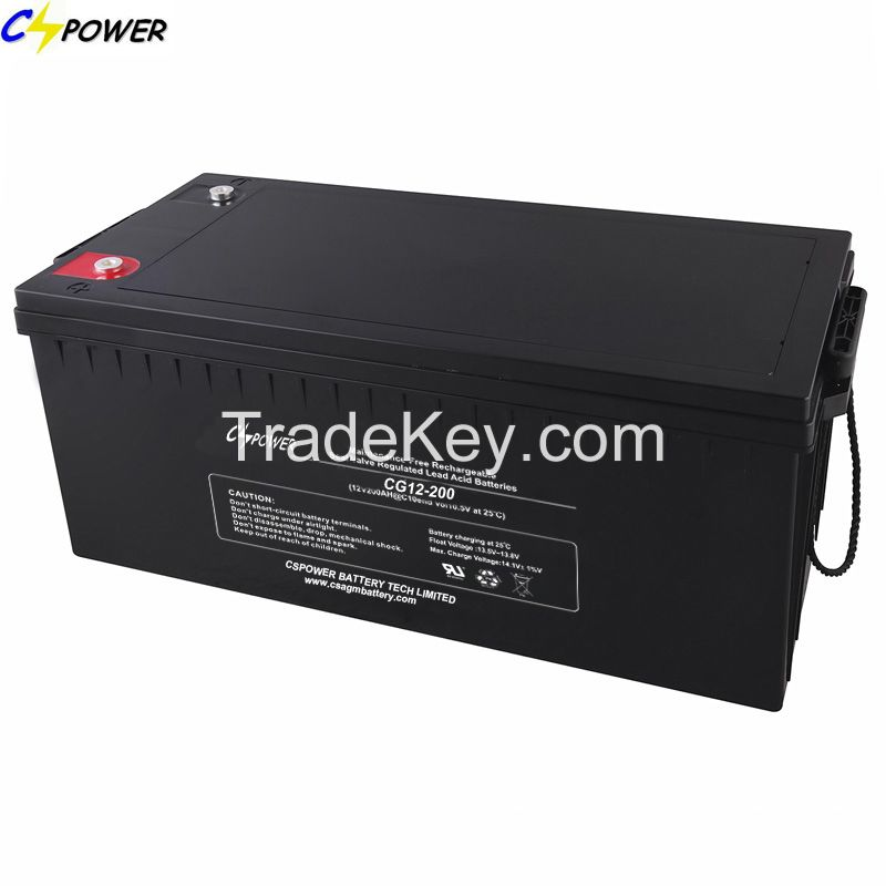 Solar Accumulator Solar Gel Battery with 15years Life 12V200ah