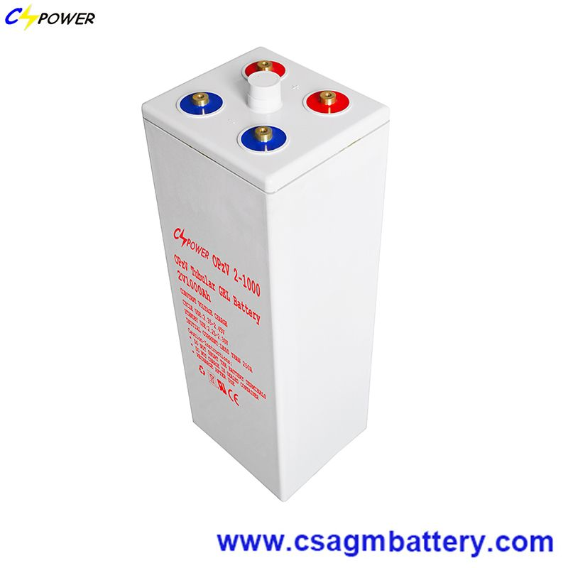Rechargeable Opzv Tubular Gel Battery 2V1000ah with 25years Lifespan