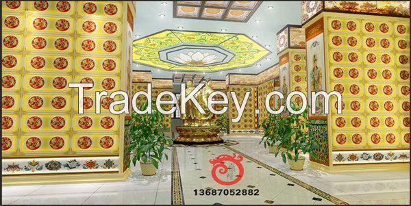 Buddha panel Aluminum alloy columbarium in temple