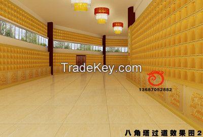 Aluminum alloy thousands of buddha wall