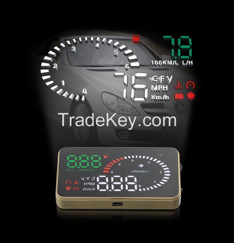 New 3 Inch X6 Car HUD Head Up Display System OBD II Speed Monitor Head up HUD Display hud speed display
