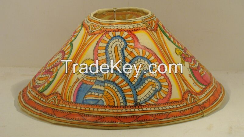 Hand painted Leather Lamps