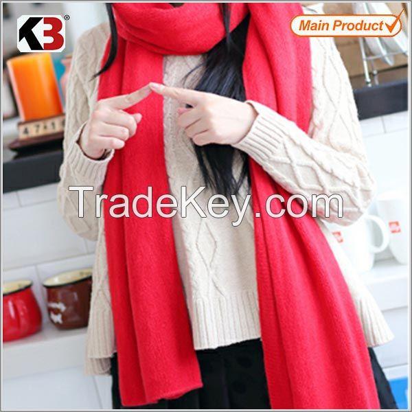 2015 New style fashion hand knitted cotton scarf shawl knit shawl