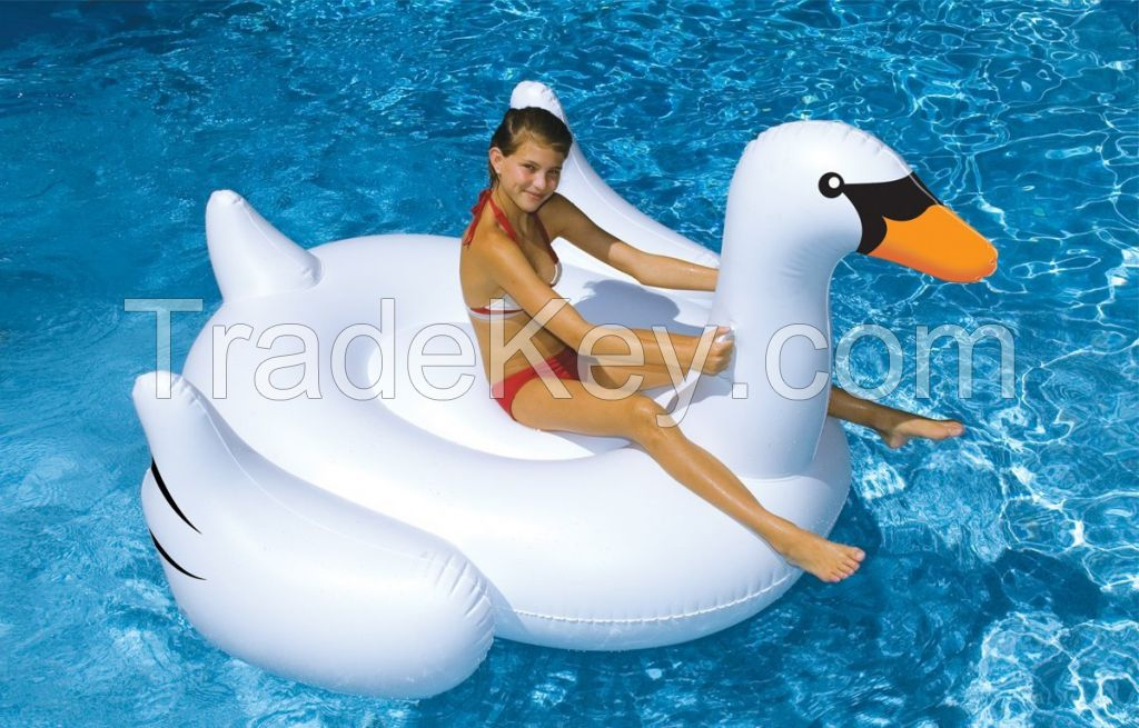 inflatable giant swan pool floats