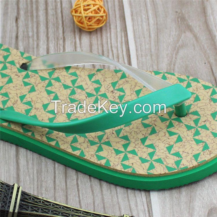 2016 Adorable ude women beach buffing pvc strap eva slipper