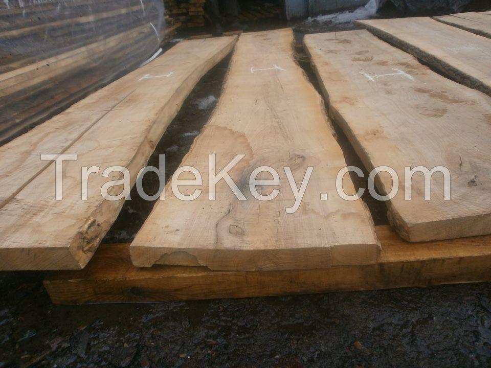 Unedged/edged fresh sawn and kiln dried ash boards