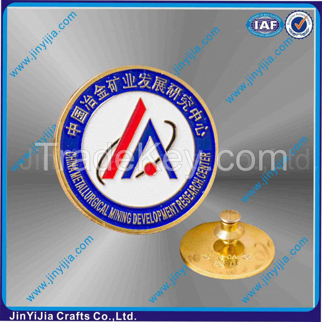 Soft Enamel Button Badges With Gold Plating