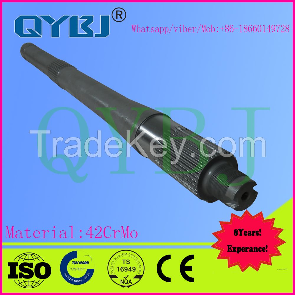 Howo truck parts through shaft and half shaft and differential carrier