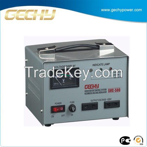 SVC 500VA Servo motor meter display automatic stabilizer