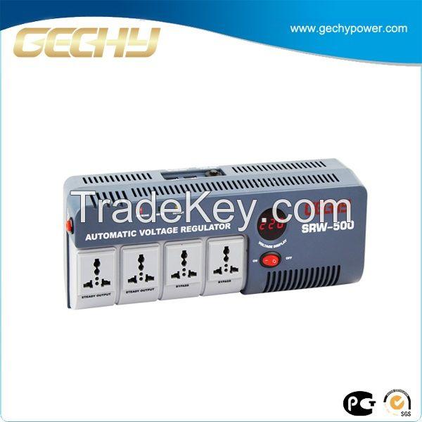 Portable Relay Type Voltage Stabilizer UK  Socket SRW-500-D