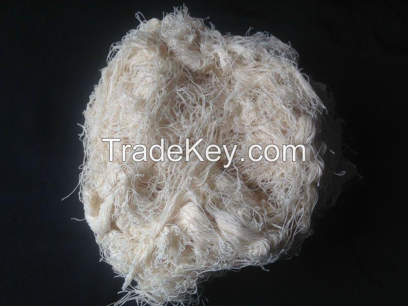 100% cotton white yarn waste