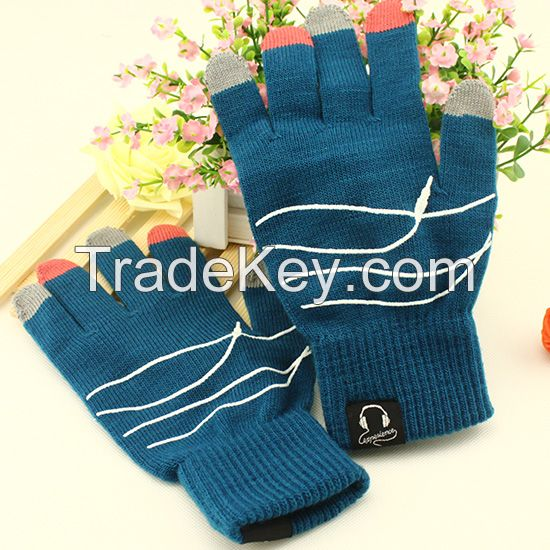 conductive touch fingers touch screen smart gloves