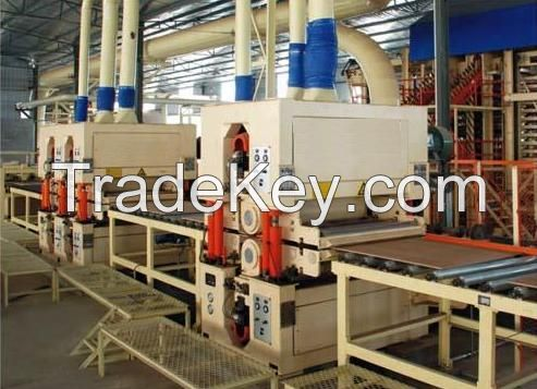 Particle board making line