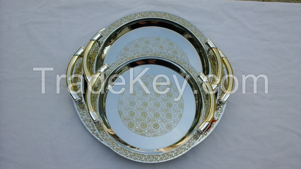 chrome plated trays with plastic handle