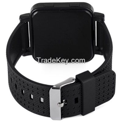 Rectangular Dial LED watch with Date Function