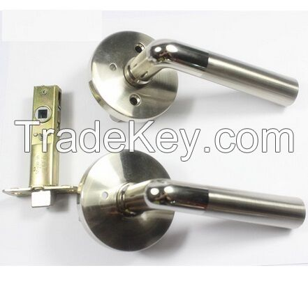 Tubular leverset Privacy Aluminum Door handle Lock passage lockset