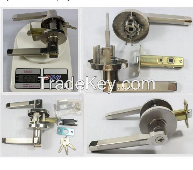 Tubular leverset Privacy Aluminum Door handle Lock passage lockset