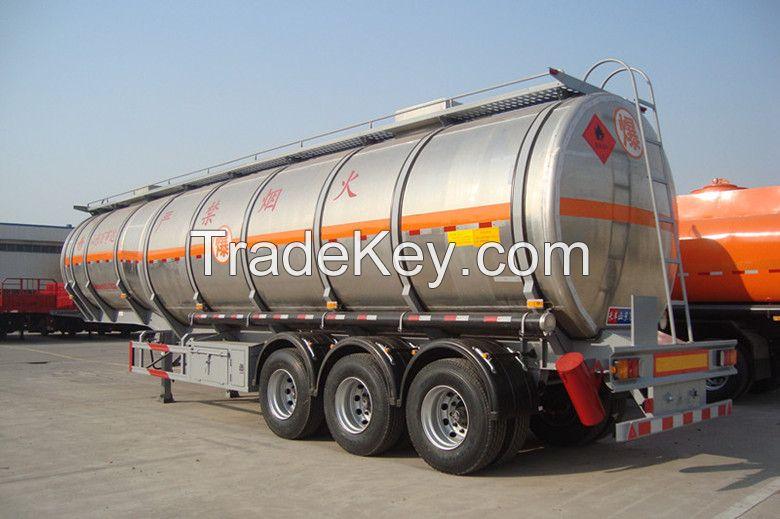 Tri- Axles 36CBM-60CBM Oil Tanker Semi Trailer For Sale