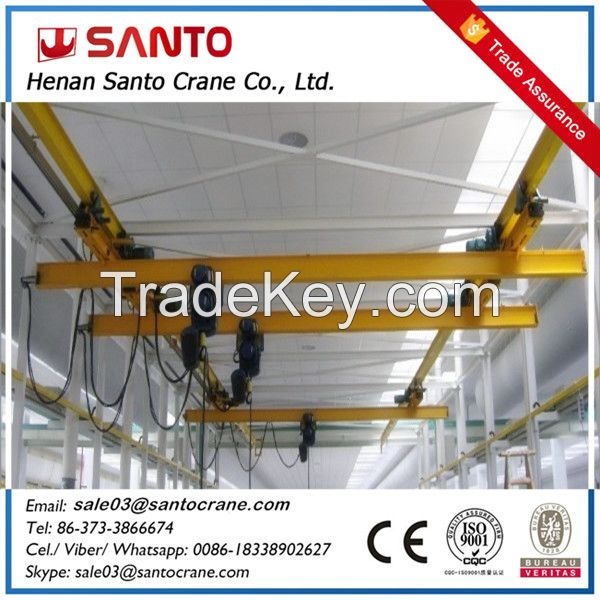 lx model eot single girder hanger underslung overhead bridge crane with ce iso
