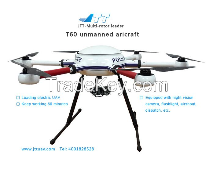 JTT T60 Six-axis Military Aircraft, Pre-sale Wireless Remote Control Multi-rotor, Unmanned Flying Camera Multi-copter, Professional FPV Unmanned Aerial Vehicle UAV