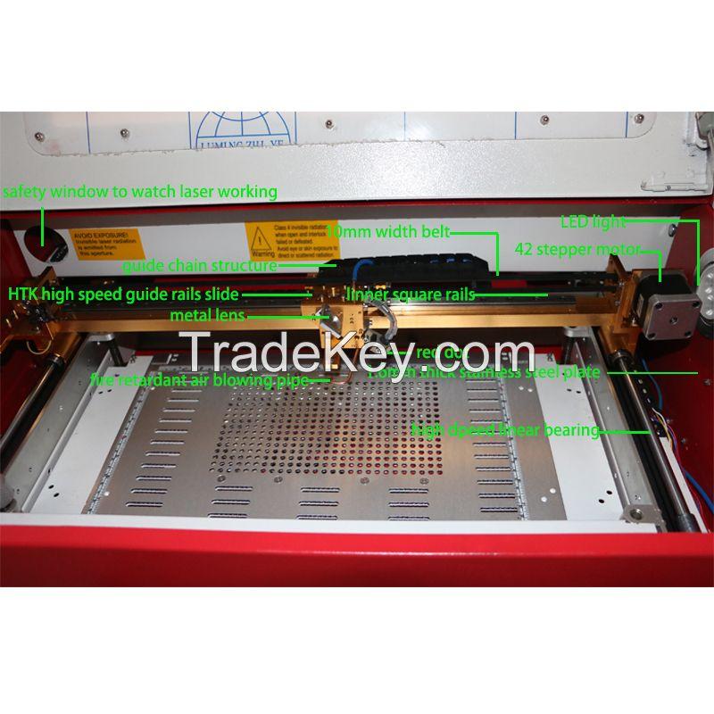dc K40 laser engraving machine for rubber stamp, wood, leather, paper laser cutter