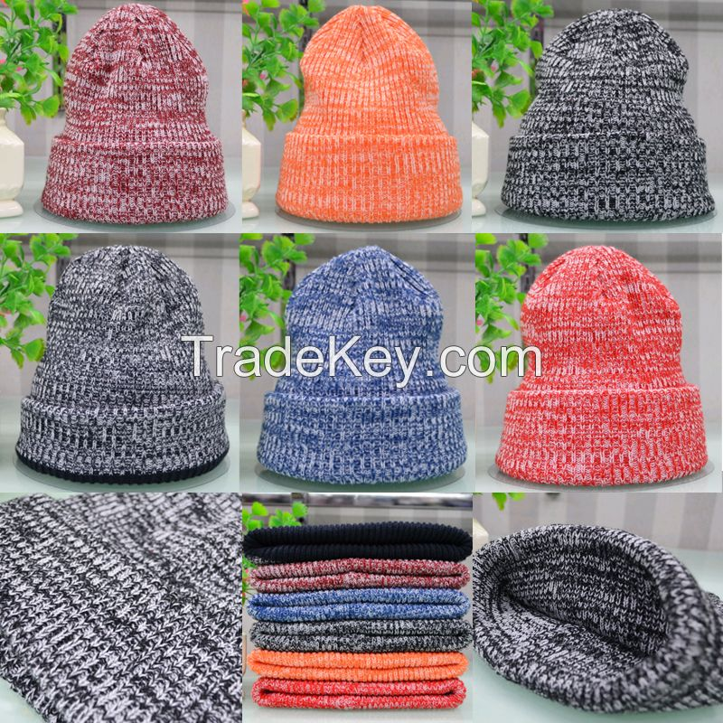 China knitting beanie hat factory custom slouchy beanie 31fc877a78d