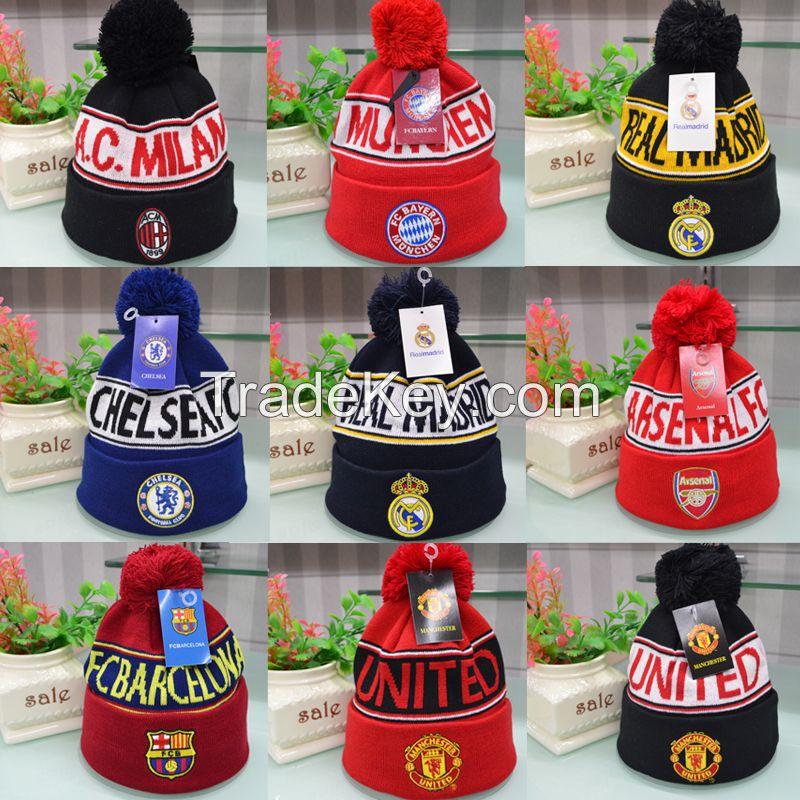 China knitting beanie hat factory custom slouchy beanie,wholesale knit beanie,custom football beanie