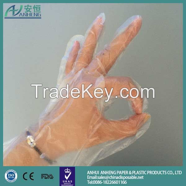 Plastic disposable glove