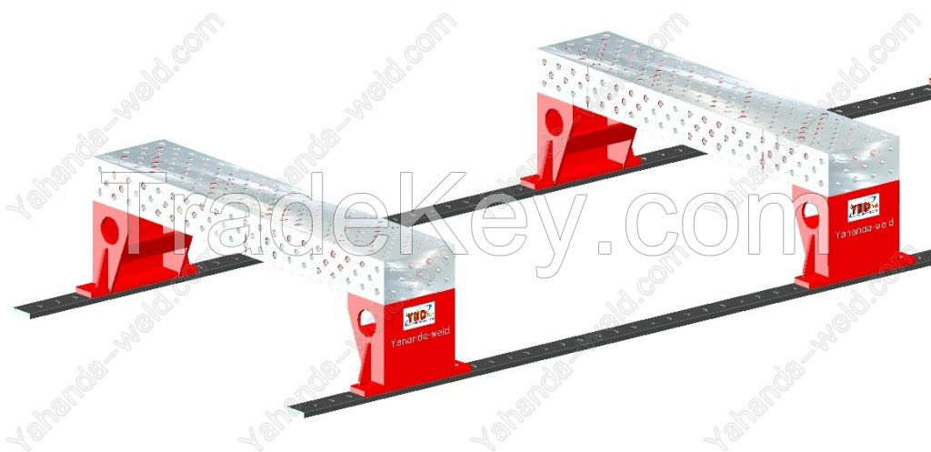 3D Welding table with rail base