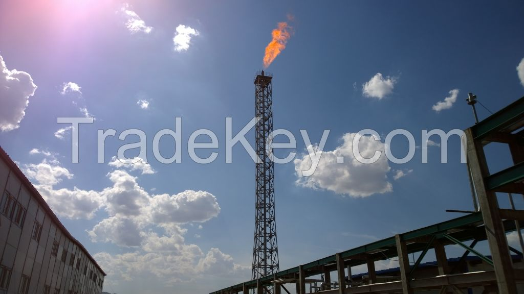 derrick type flare stack