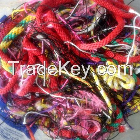 100 tons Nylon / PET Polyester / Silk / PP / PVC Polypropylene / Shoddy / Jute Fiber Yarn Rope Waste for Sale with Low Price