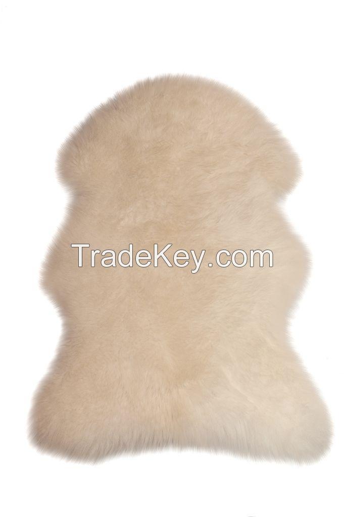 Dekorative sheepskin rug