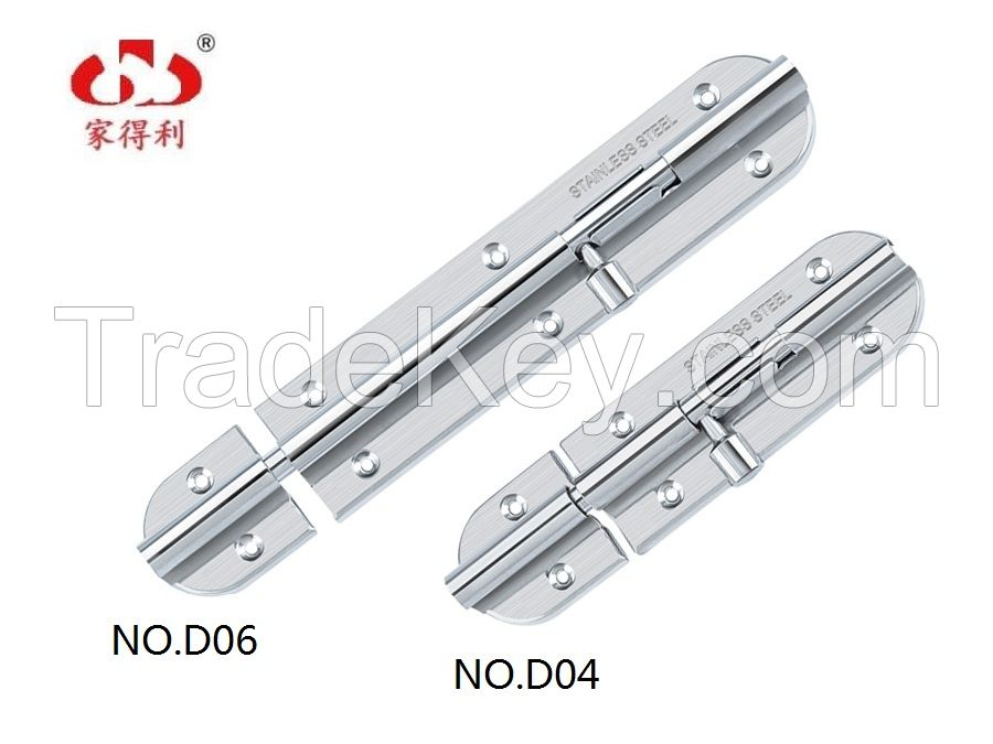 Hot selling Stainless Steel Door Latch/ Bolt (JDL-D0series)