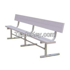 cheap price for aluminum patio benches with back