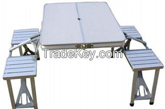 new design aluminum folding tables with chairs for family outdoor activity