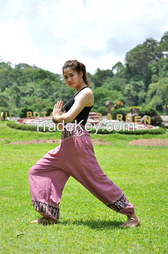 Drawstring Elephant Unisex Boho Pant Harem Aladdin Trousers Comfy Harem Comfy Gypsy Yoga Wear Thai Pants House Wear Massage Pant
