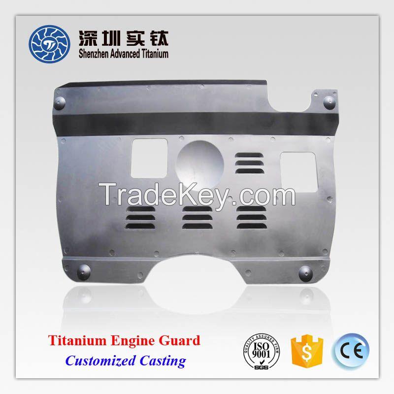 Titanium auto car engine guard hood supplier in China