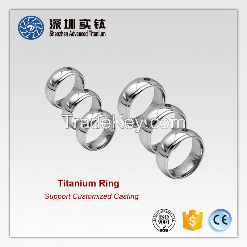 Titanium fashion men women rings casting factory