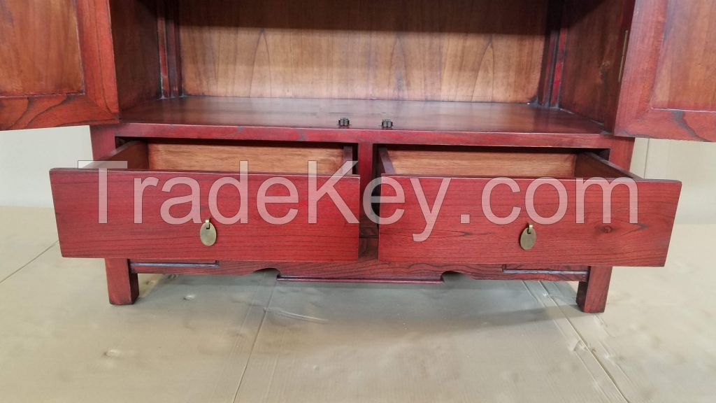 Wooden Red Cabinet