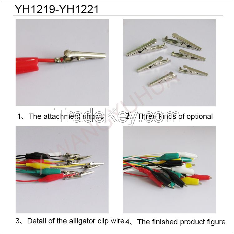 test lead kits with alligator clip