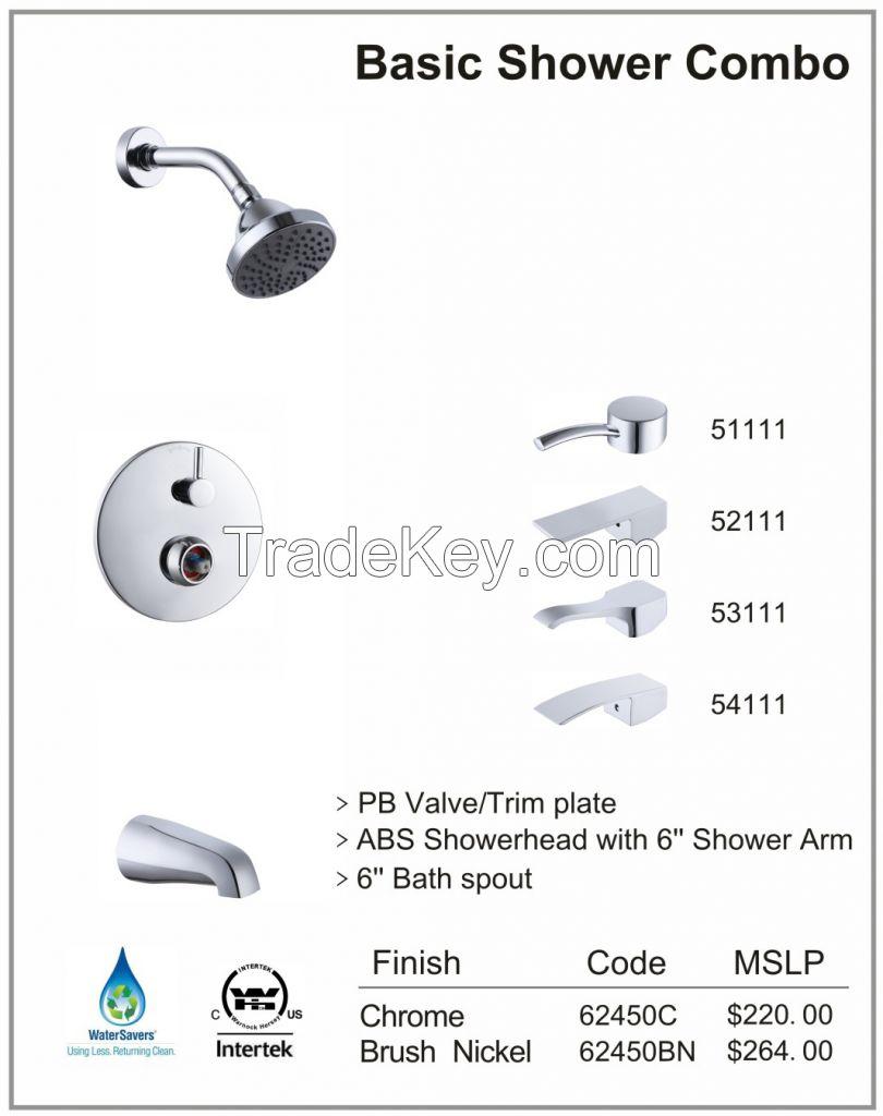 Basic Shower Combo with Pressure Balance Valve