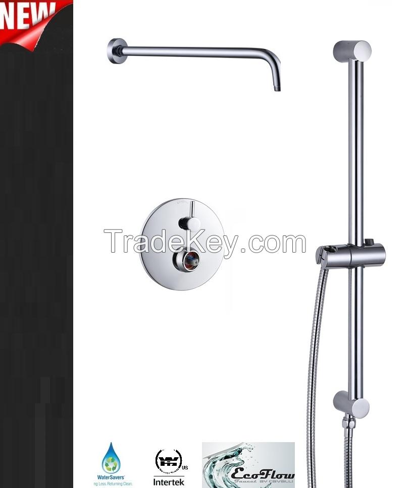 Rail Shower Combo with Pressure Balance Valve