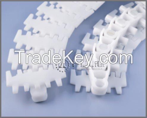 conveyor chain with turning radius