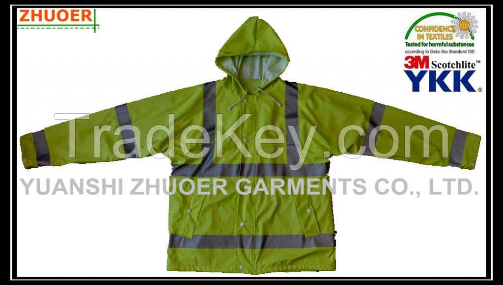 Men's PU Rain Coat - Jacket and Pant
