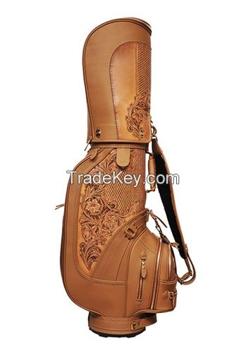 Bamboo fiber and synthetic golf bag