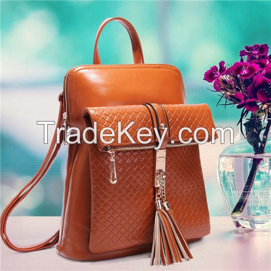 Fashion Vintage Tassels Backpack Portable Female Shoulder Bag